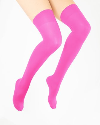 Neon Pink Womens Thigh Highs We Love Colors