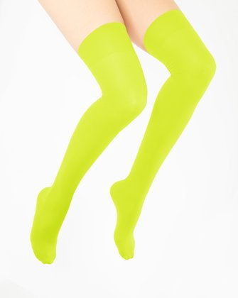 Neon Yellow Womens Thigh Highs We Love Colors