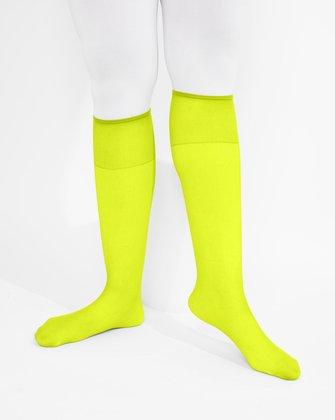 Neon Yellow Womens Knee Highs We Love Colors