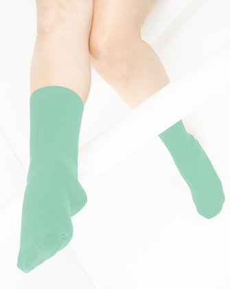 Dusty Green Womens Socks We Love Colors