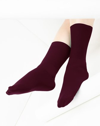 Maroon Womens Socks We Love Colors