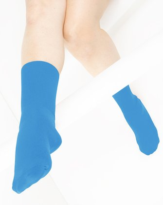 Medium Blue Womens Socks We Love Colors
