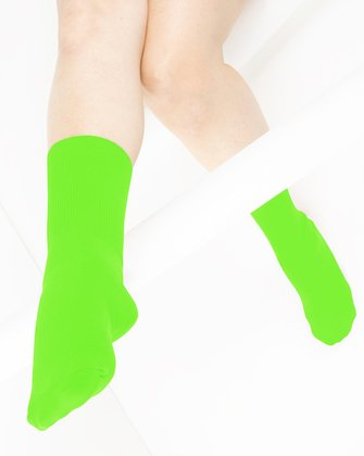 Neon Green Womens Socks We Love Colors
