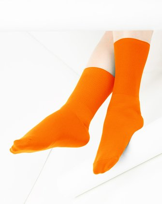 Neon Orange Womens Socks We Love Colors