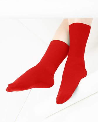 Scarlet Red Womens Socks We Love Colors