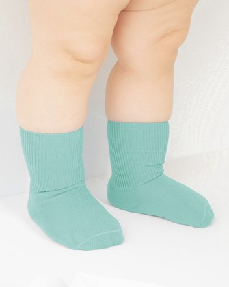 Dusty Green Kids Socks We Love Colors