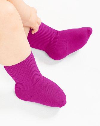 Fuchsia Kids Socks We Love Colors