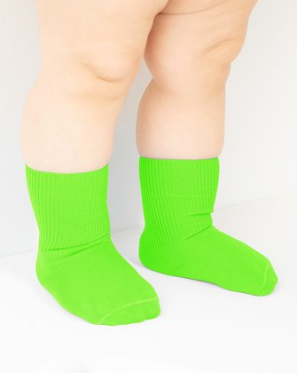 Neon Green Kids Socks We Love Colors