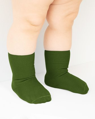 Olive Green Kids Socks We Love Colors