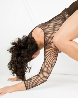 Brown Womens Fishnet Bodywear We Love Colors