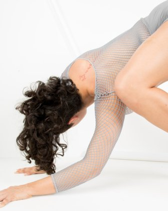Grey Womens Fishnet Bodywear | We Love Colors