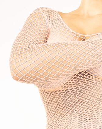 Peach Womens Fishnet Bodywear | We Love Colors