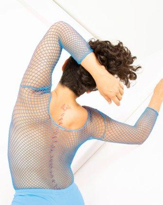 Sky Blue Womens Fishnet Bodywear   We Love Colors