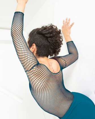 Teal Womens Fishnet Bodywear We Love Colors