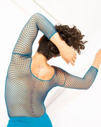 Turquoise Womens Fishnet Bodywear   We Love Colors