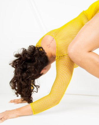 Yellow Womens Fishnet Bodywear | We Love Colors