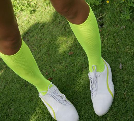 d2b4b7beece Adult Nylon Neon Yellow Socks.