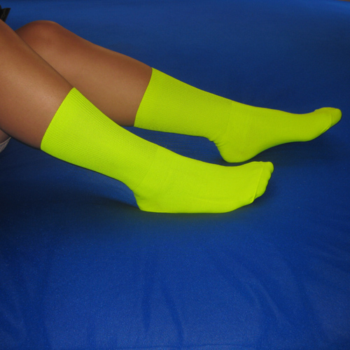 b8223d019a6 Nylon Neon Yellow Socks. Neon yellow