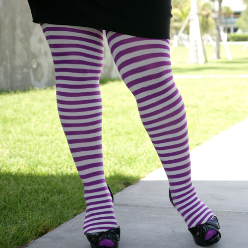 Plus Size Red And White Striped Tights Welovecolors Com