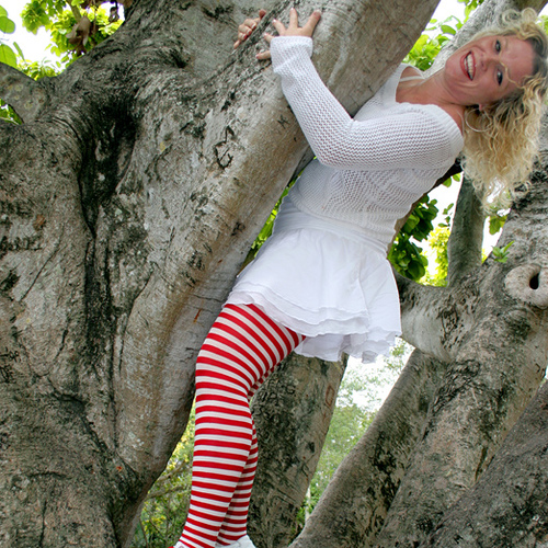 Plus Size Red And White Striped Tights.