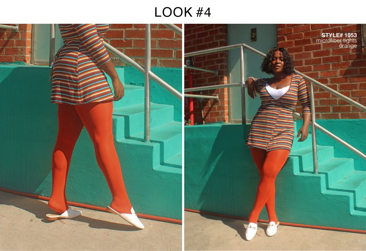 Best Colored Tights For Fall 2018 Orange