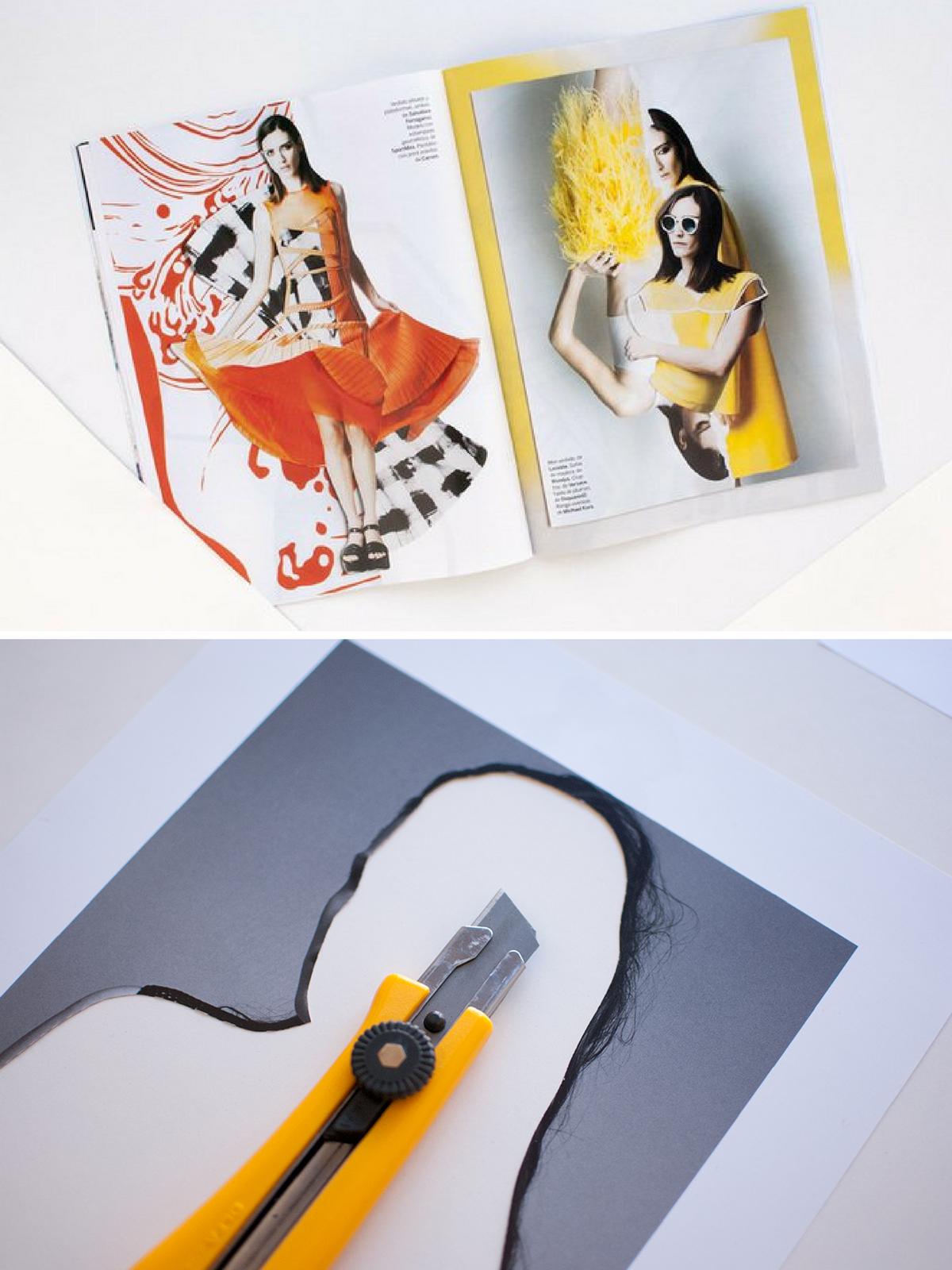 collage art magazine layout