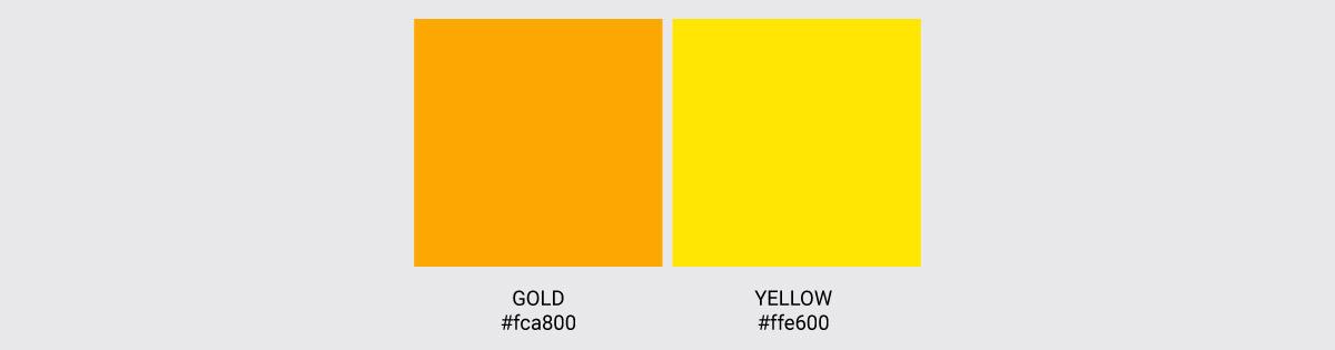 Color Palette We Love Colors Gold Yellow 2