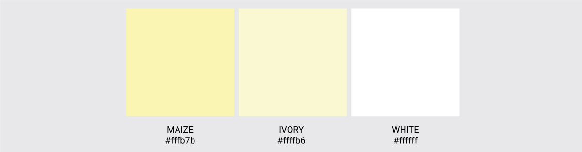 Color Palette We Love Colors Ivory White Maize 2