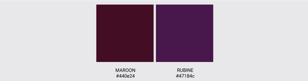 Color Palette We Love Colors Maroon Rubine 2