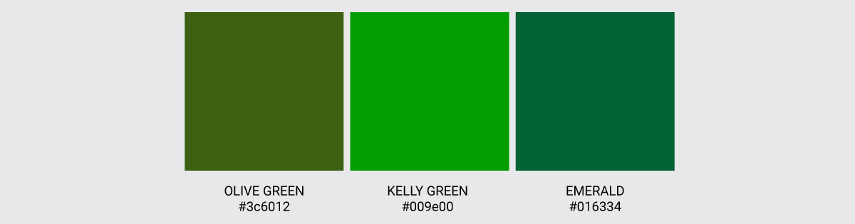Color Palette We Love Colors Olive Green Kelly Green Emerald 2
