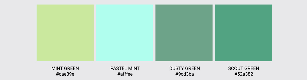Color Palette We Love Colors Pastel Mint Scout Dusty Mint Green 2