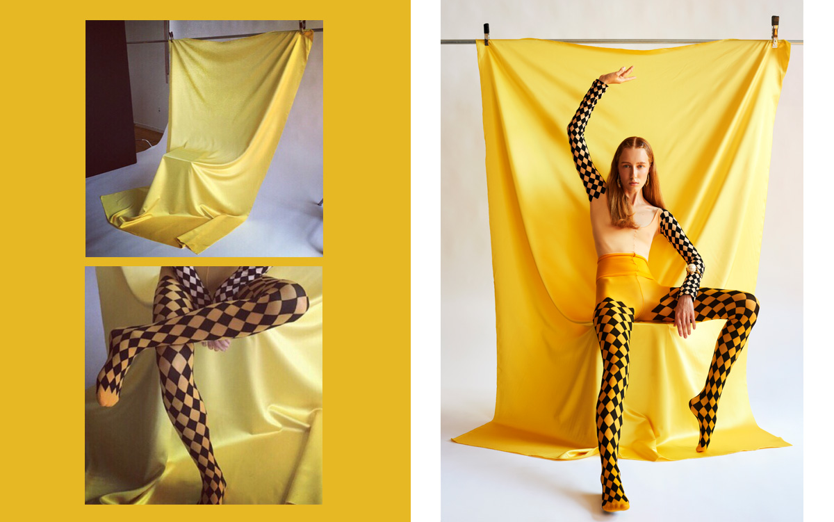 Color Theory Bullet Magazine Yellow Tights
