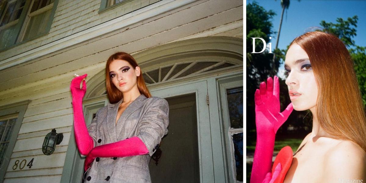 Di Magazine Fall 2017 3407 Shoulder Gloves Red