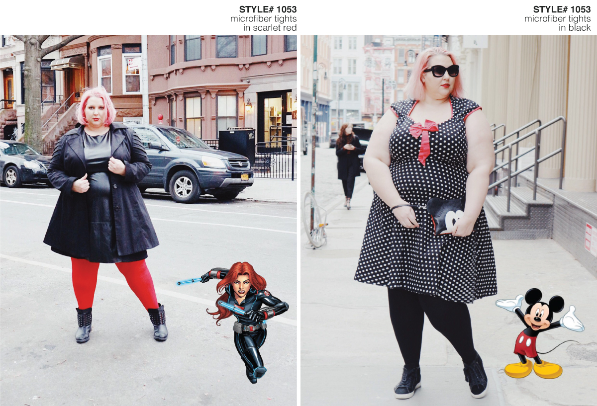 Fashion blogger standing on the street wearing a Disneybound Mickey Mouse and action figure inspired outfit