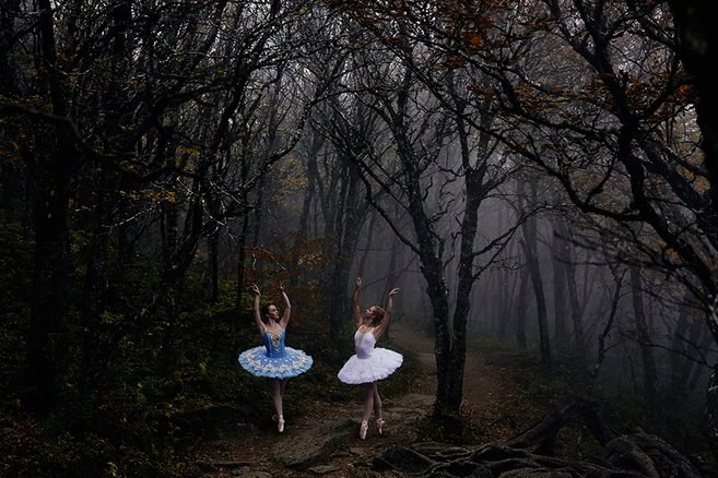 Magical Places Combined With The Art Of Ballet Photo Series - We Love Colors