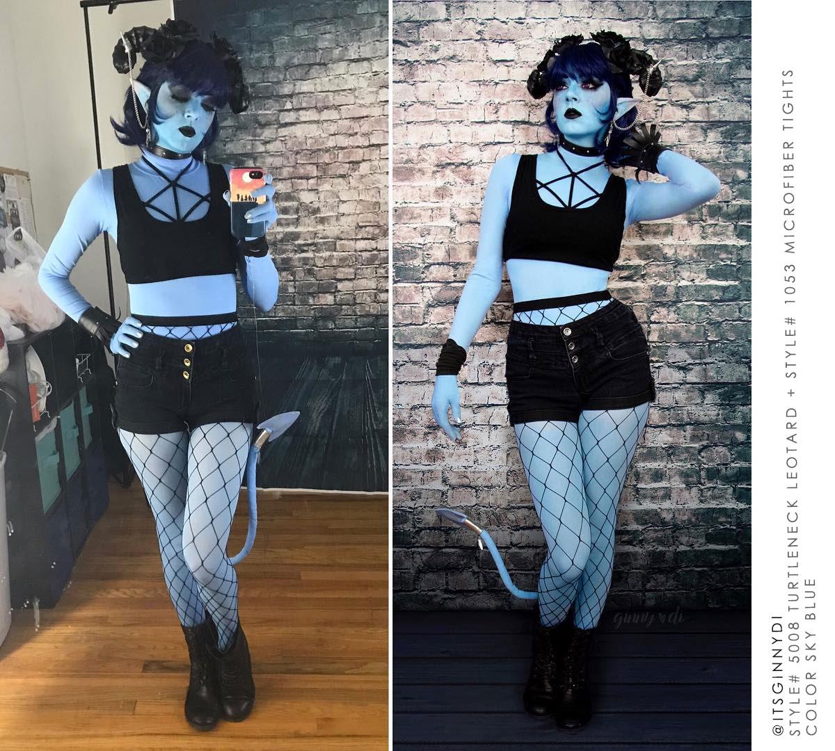 Ginnydi Jester Cosplay Bodypaint Armsocks Welovecolors