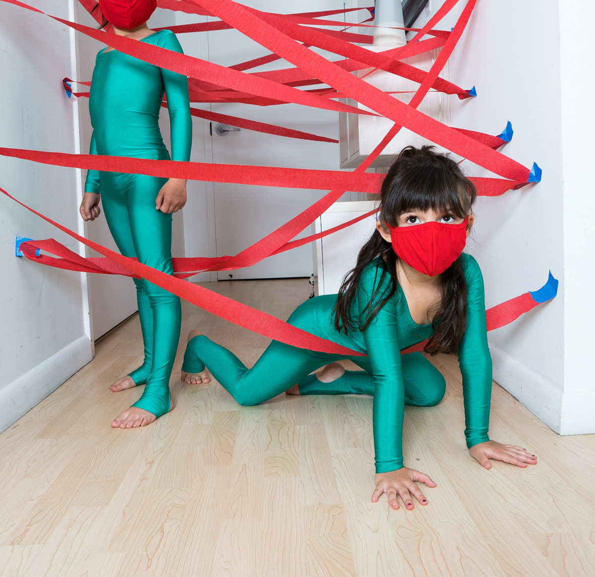 Laser Maze Kids Mask Unitard