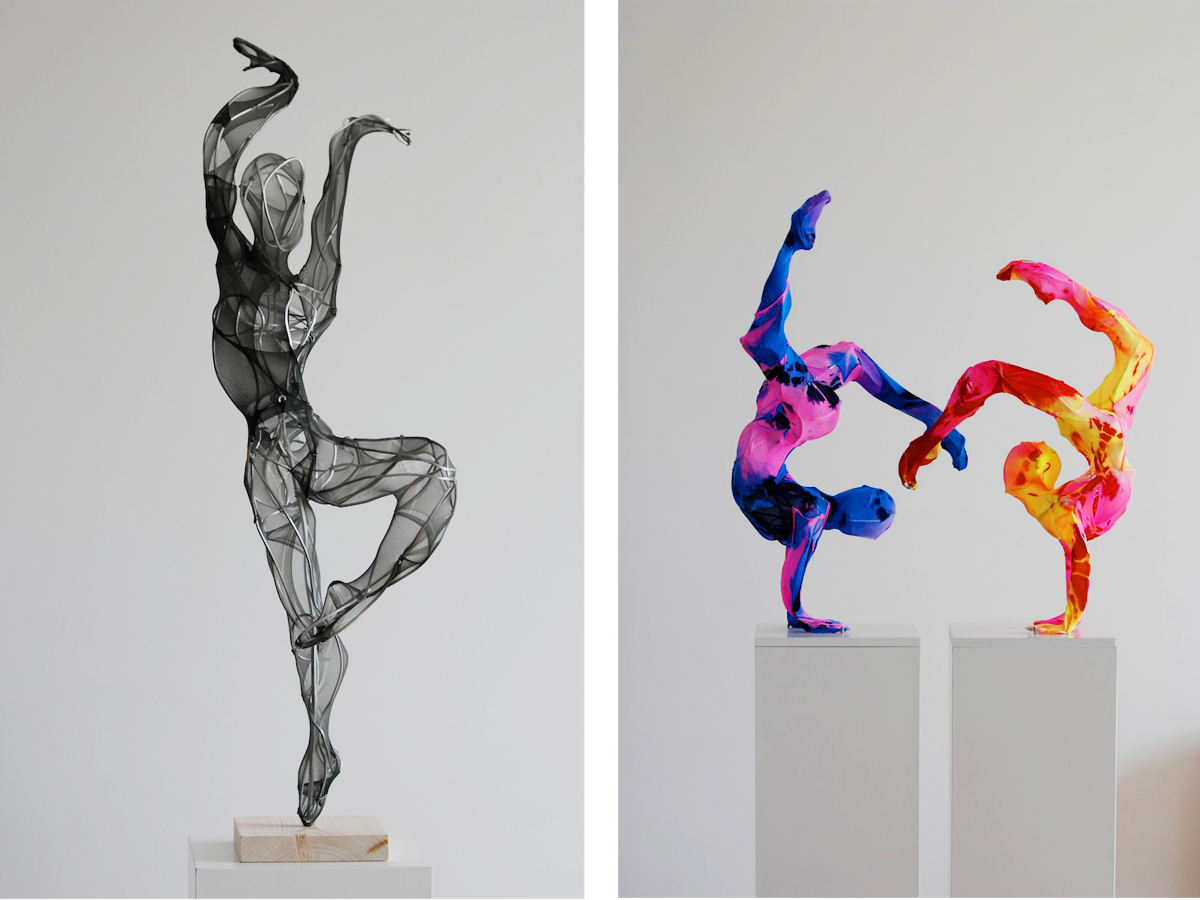 Laura Vicente Colorful Hosiery Sculptures