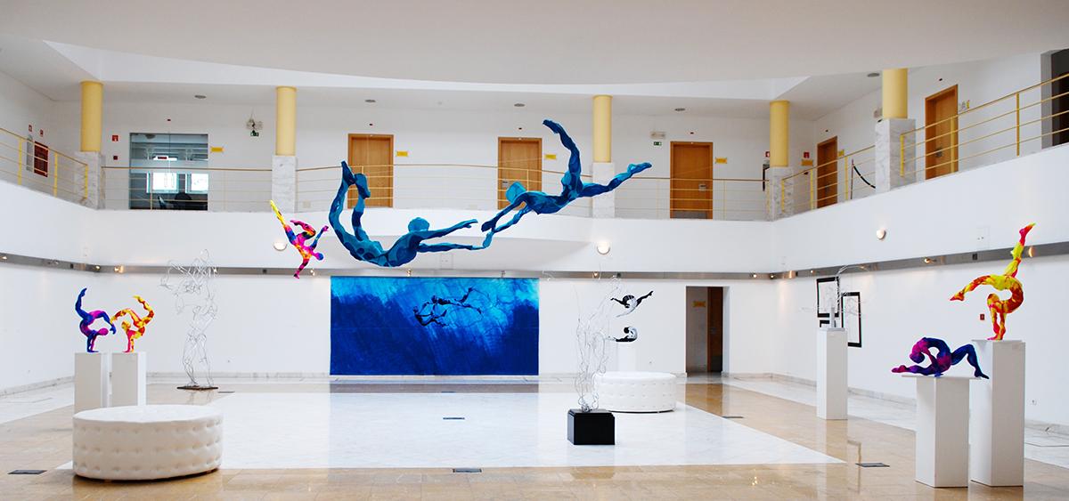 Laura Vicente Colorful Sculptures