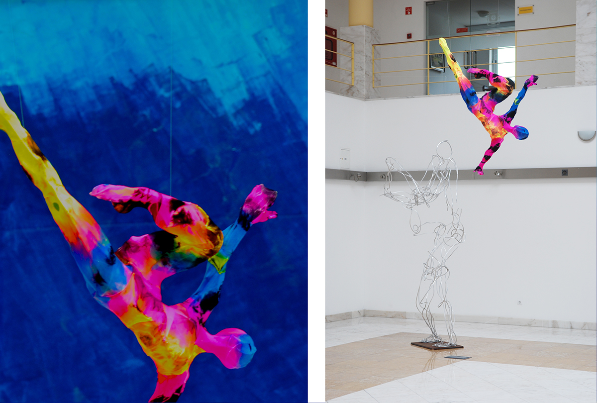 Laura Vicente Flying Colorful Sculptures