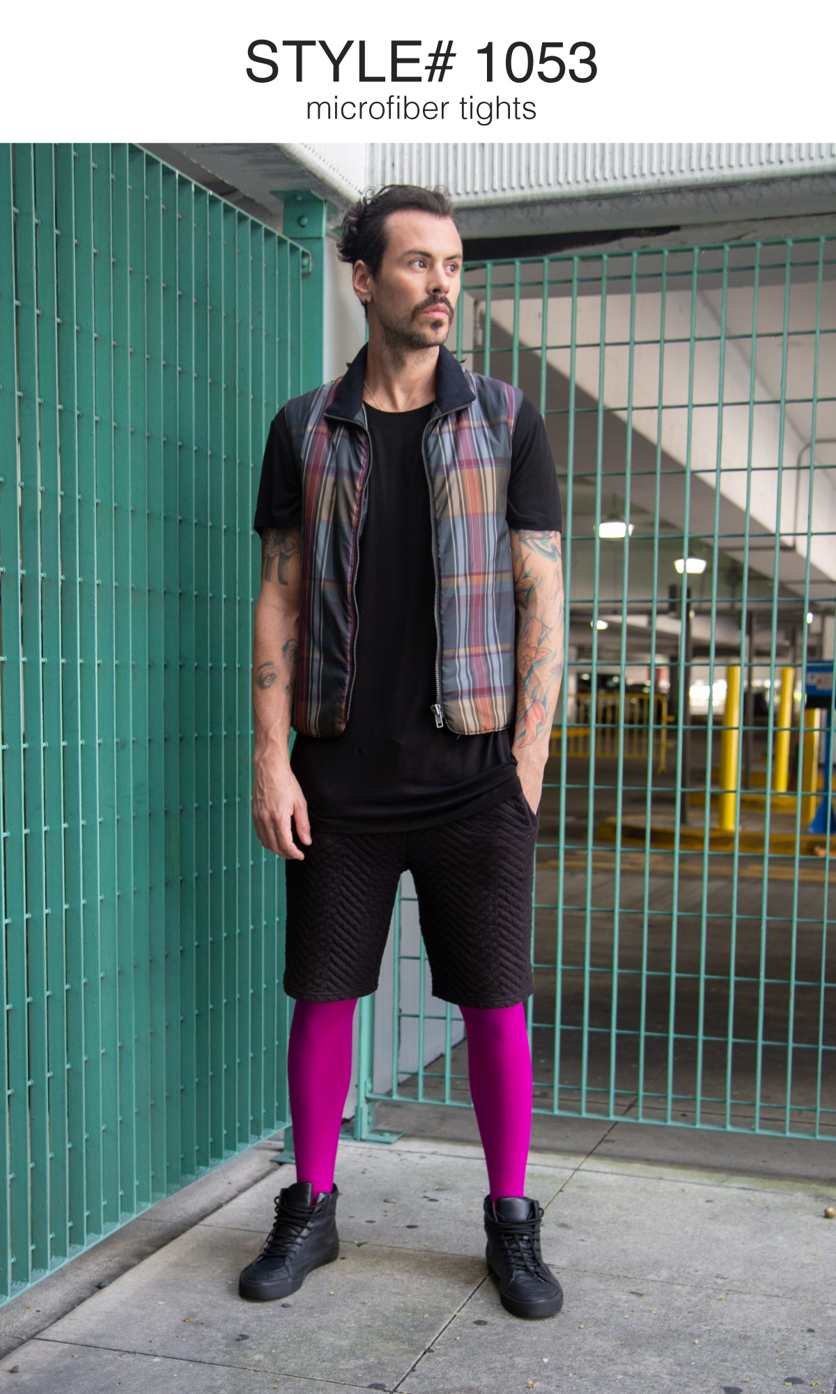 Men Colored Comfortable Tights Graphic 13