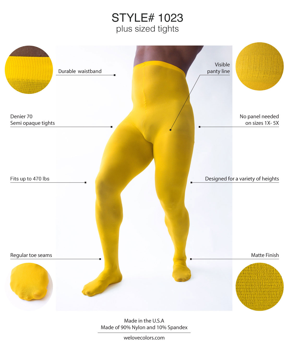 Men Colored Nylon Tights Welovecolors