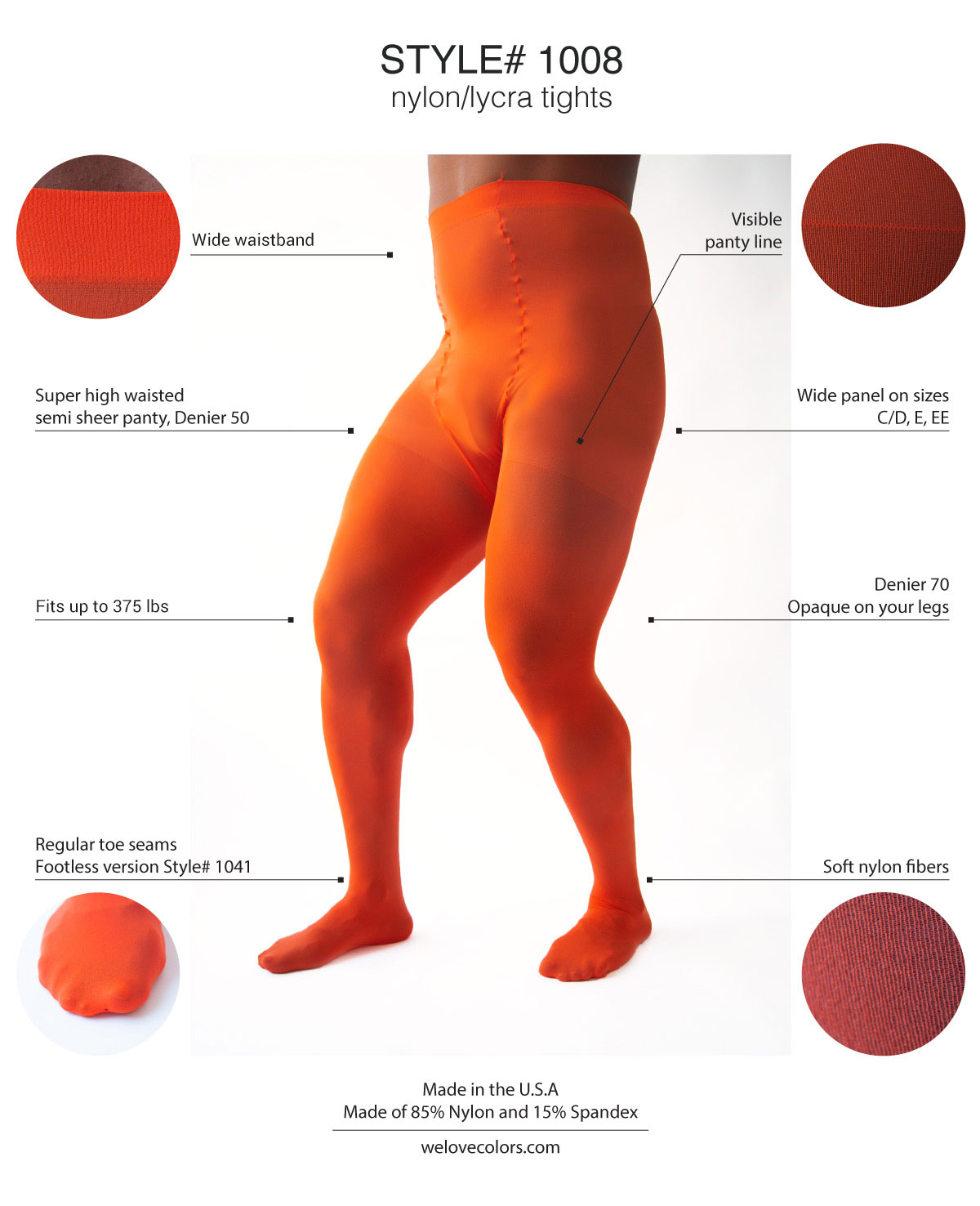 Men Colored Plus Size Tights Dancer Welovecolors 1