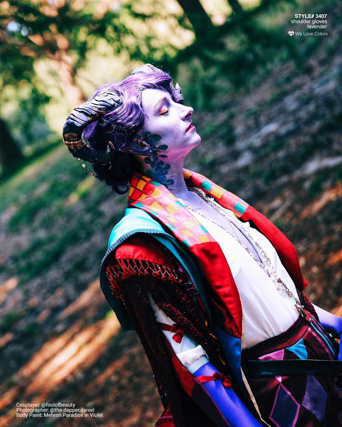 Mollymauk Cosplay Welovecolors Gloves Lavender