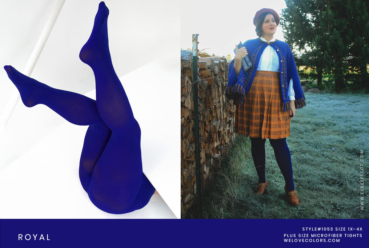 Plus Size Blue Christmas Tights