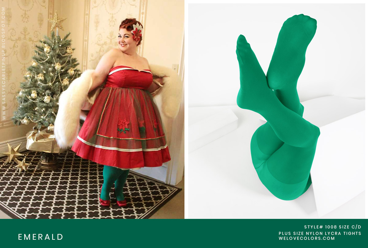 Plus Size Christmas Tights