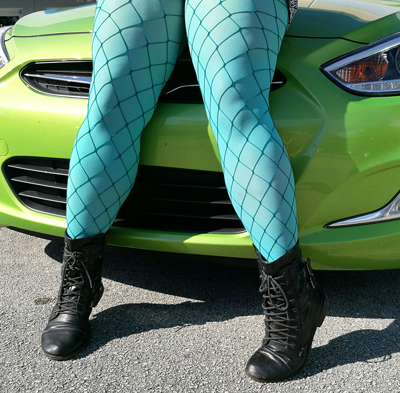 Plus Size Green Fishnets Tights Welovecolors