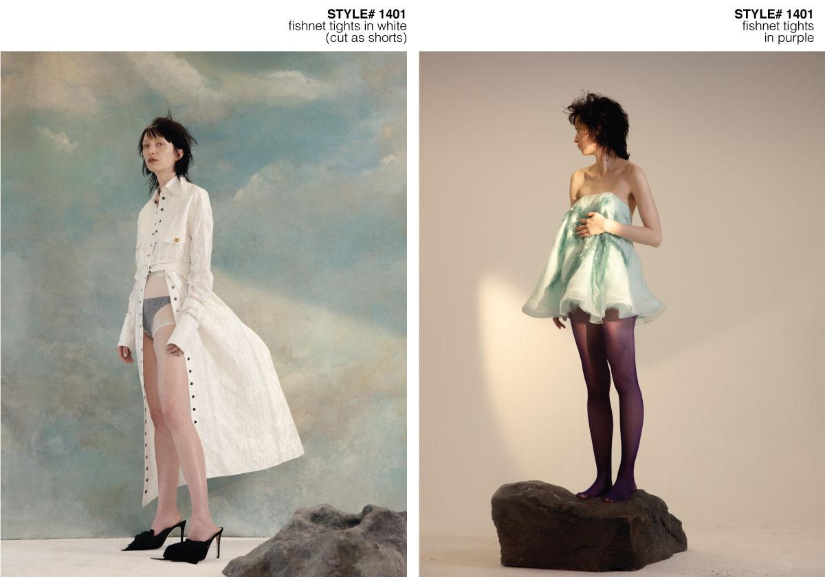Schön Magazine studio photoshoot with models wearing fishnets