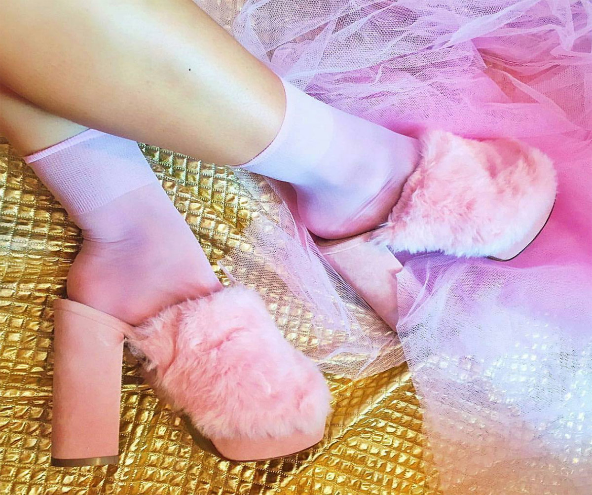 Sheer Pink Socks Welovecolors