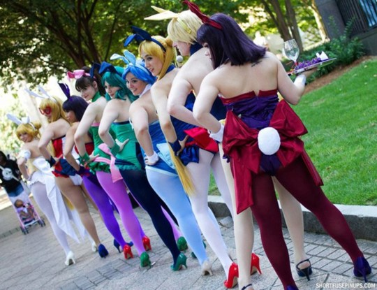 Bunnies-group-colors-playboy-sailormoon- ShortFusePinups